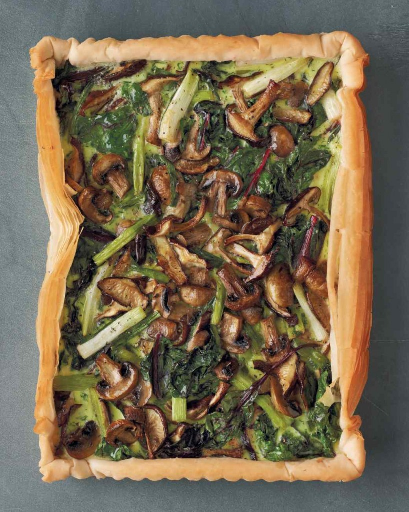 22 Days of Thanksgiving Recipes: Mushroom, Spinach, and Scallion Tart